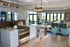 Open-plan kitchen and lounge
