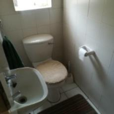 bathroom with toilet basin and shower