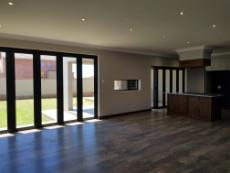 Open plan living areas and kitchen
