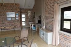 Braai room with guest toilet behind the brick wall