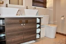 Guest shower room with double vanity