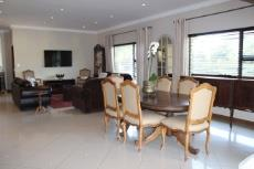 Open-plan dining area and lounge