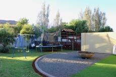 Play area next to patio