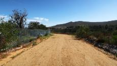 Top access road to the plot