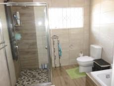 Bathroom - bath basin shower & toilet