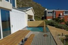 Ocean facing deck with splash pool