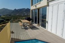 Patio with splash pool and amazing views