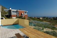 Splash pool on the ocean facing deck