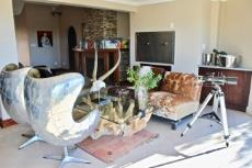 Seating area and built-in braai