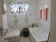 Bathroom with bath, basin & toilet