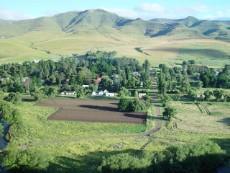 Aerial view of Rhodes Village.