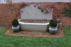 Water feature from patio