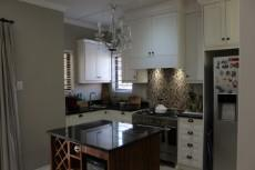 Kitchen with contrasting center island