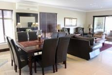 Dining area and lounge with air-conditioner