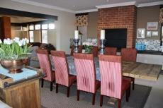 Formal dining area with built-in braai
