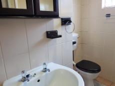 Bathroom with basin & toilet