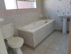 Bathroom with bath, basin & toilet