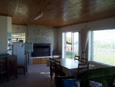 living room with inside braai