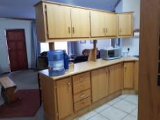 Kitchen with ample cupboard space