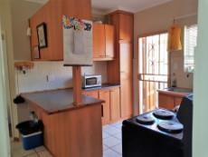Open plan kitchen with breakfast nook