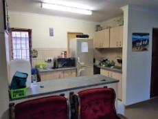 Open plan kitchen with scullery and washing machine connection