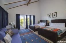 Spacious bedroom with access to beautiful garden.