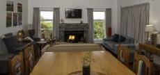 Open plan Living area with fire place.