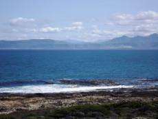 Ocean View slightly to our right.  Hermanus coastline at the back.