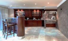 Ground: 2nd Living Area. Built-in Gas BBQ & Spitbraai &  Bar Fridge