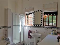 Bathroom with designed blinds (included)