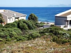 Our Plot right in front of us. Hermanus coastline at the back.
