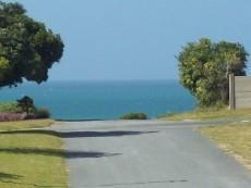 view down street towards the sea