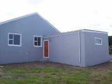 backyard with door from garage