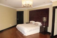 Main bedroom with engineered wood flooring