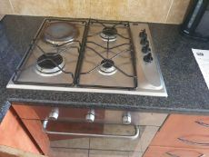 Gas Hob with 3 gasplates and 1 Electric plate