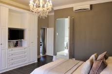Guest bedroom built-in wall unit
