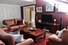 Family room with built-in storage