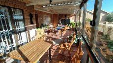 Built in braai on patio.