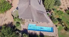 Drone photo house and swimming pool
