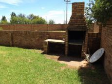 Braai at the back of the house