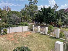 Garden view from the front door