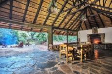 Tented camp dining area