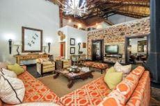 Main Lodge lounge area with fireplace
