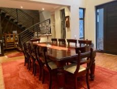 Dining room with staircase to first floor