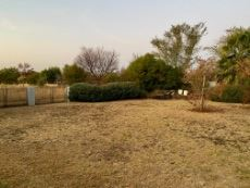 Large yard next to green area