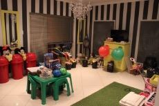 Private lounge currently used as playroom.  Sliding door to enclosed braai area.