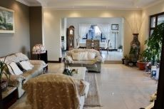 Open-plan family room and dining area