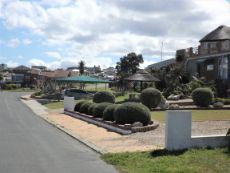 Houses across the Street  -  in the direction of Hermanus.