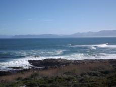 Sea view to the front. Hermanus & Hangklip coastline at the back.