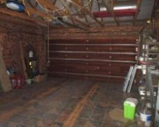 Tiled double garage